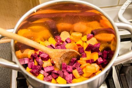 Canh bí đỏ – Soupe de potiron vietnamienne