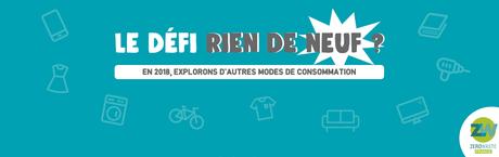 Le défi « Rien de neuf » de Zero Waste France