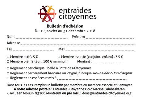 En 2018, adhérez à Entraides-Citoyennes !