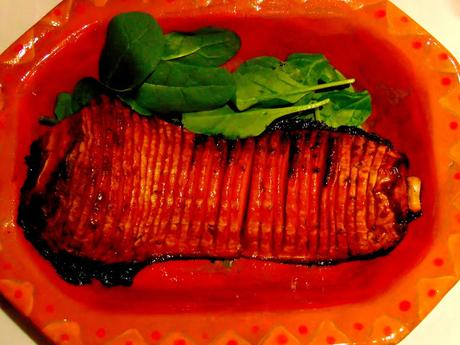 Courge hasselback