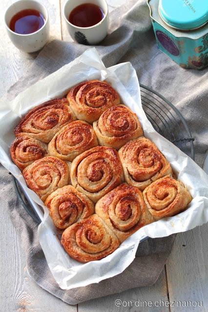 Cinnamon rolls très moelleux
