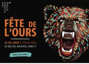 Fête de l'Ours 2018: Venez costumés!  Mercredi 21 février 2018,  de 19h30 à minuit