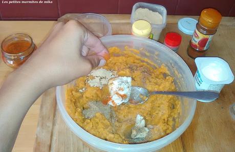 Purée de patates douces aux épices
