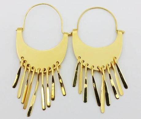 paire de boucles d'oreilles plaquée or