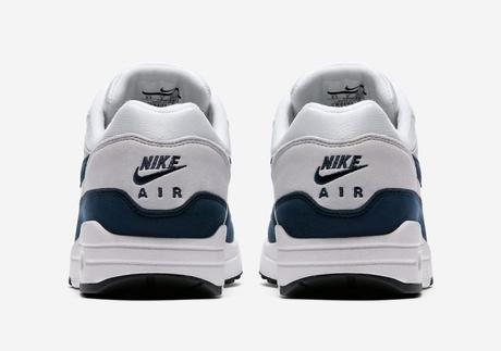 Air max 1 White Navy mesh