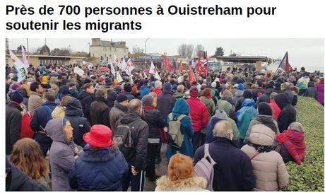 #Ouistreham : soutien massif aux migrants