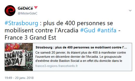 Stop aux verrues fascistes en fRance, fermeture de l' #Arcadia ! #Strasbourg