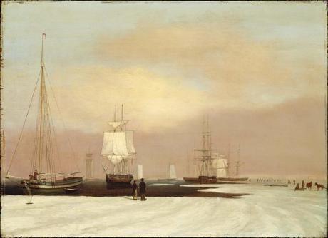 John S. Blunt, Le port de Boston pris en partie par les glaces, 1835