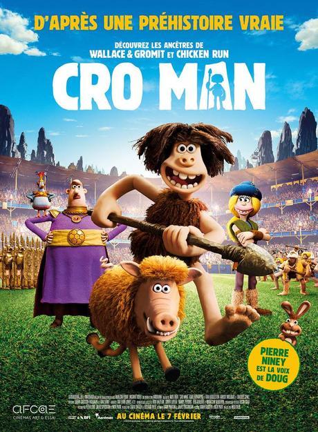CRO MAN de Nick Park avec la voix de Pierre Niney - Le 7 Février 2018 au cinéma, Les Ancêtres de Wallace & Gromit et Chicken Run