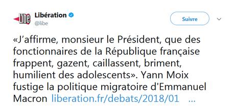 Moix - Calais - Le protocole de la bavure