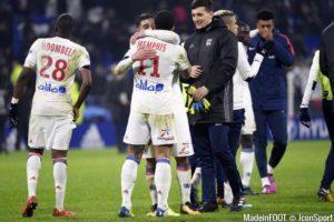 La joie des Lyonnais et notamment de Memphis Depay auteur d'un but splendide à la dernière seconde du match
