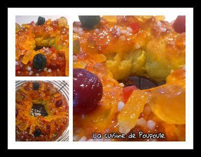 Brioche des rois au fruits confits de Christophe Fleder au kitchenaid