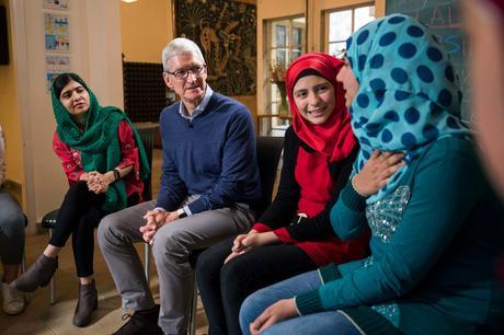 Apple s'accocie à la fondation de la lauréate du prix Nobel de la paix