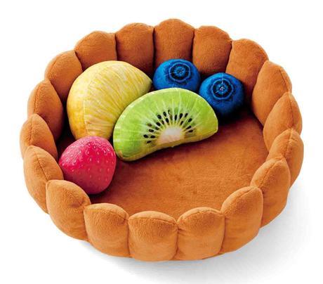 Japon : un panier pour chat «tarte aux fruits»
