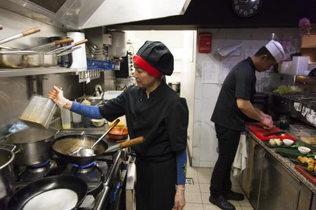 On a trouvé un bon restaurant à Montmartre : La Brasserie Thaï