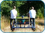Pour sortie sympa vacances week-end, pensez draisine (vélo-rail)