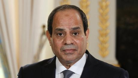 Le président égyptien Abdel Fattah al-Sissi, candidat à sa propre succession