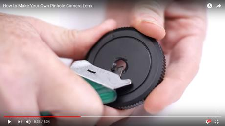 [TUTO] : Fabriquer un objectif pinhole en 1 minute 30