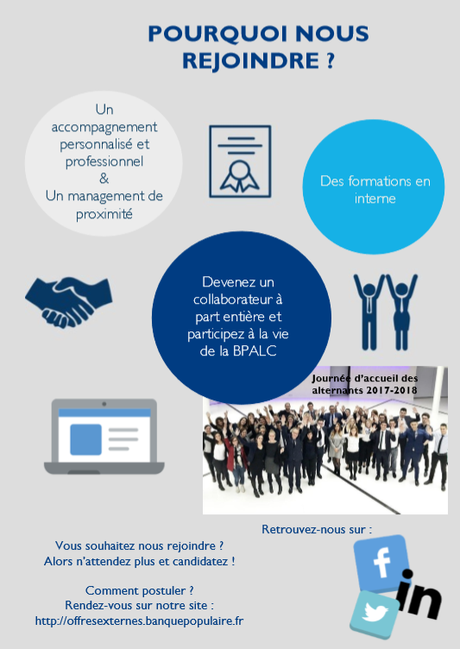 La BPALC recrute ses futurs collaborateurs en CDI, alternance et contrat d'apprentissage ou de professionnalisation