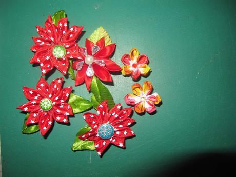 Mes ouvrages - fleurs en ruban - 2