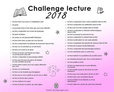 Challenge lecture 2018 - J'ai lu