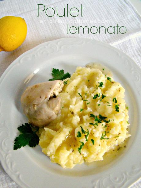 Lemonato kotopoulo ou le poulet en sauce citronnée