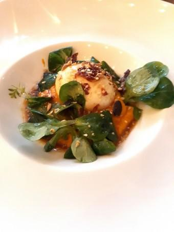 Oeuf mollet, courge © Gourmets&co