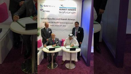 Safran signe un contrat avec Kuwait Airways