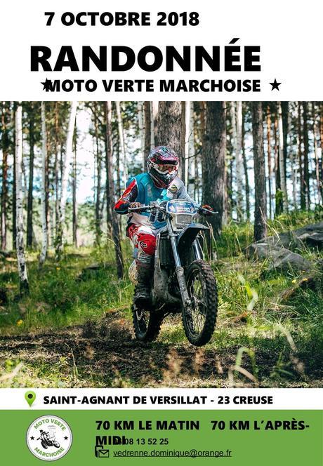 Randonnée moto le 7 octobre 2018 du Moto Verte Marchoise à Saint Agnant de Versillat (23)