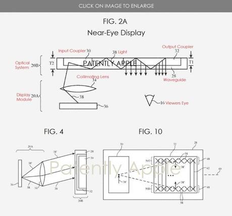 Apple : un brevet d'écran AR placé proche des yeux