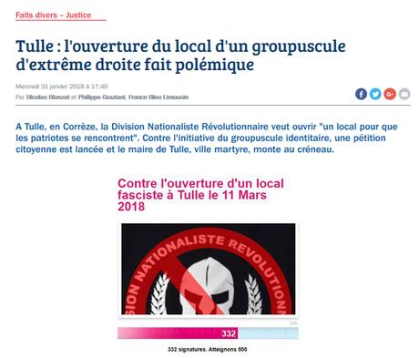 … Et ça continue… #PesteBrune #Tulle #antifa