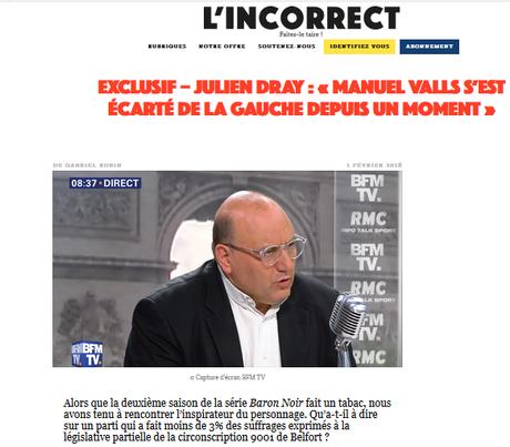 Julien Dray se commet dans un journal d'extrême-droite