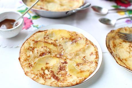 Crêpe(s) épaisse(s) aux pommes