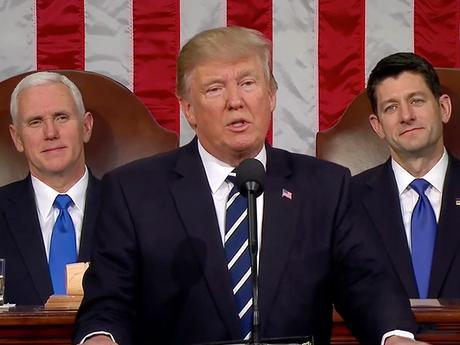 Merci, et que Dieu bénisse l'Amérique. Donald TRUMP : le discours de l'union !
