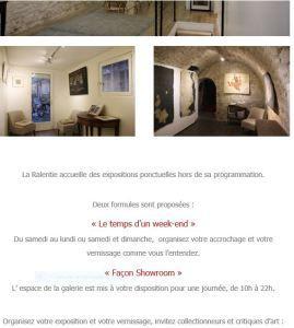 Galerie LA RALENTIE  « Art & Pensées » Proposition aux artistes….