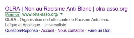 l' #OLRA, de l' #antiracisme ? #Padamalgam ! #NotInMyName