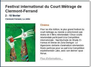 Festival International du Court Métrage de Clermont-Ferrand 2/10 Février 2018