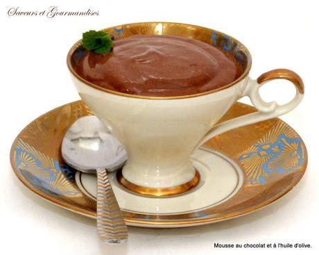 Mousse au Chocolat et à l'huile d'Olive (de Nigella)