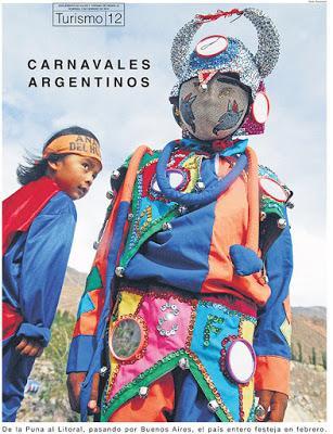 Un supplément tourisme consacré aux carnavals argentins [Coutumes]
