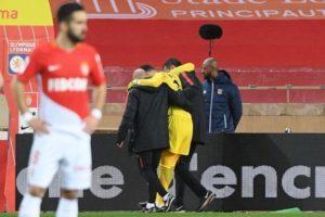 La blessure de Subasic pendant le match Monaco Lyon