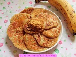 Pancakes à la banane sans oeuf (Vegan)