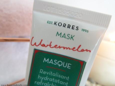 Masque à la pastèque de Korres, une gourmandise pour la peau et les sens !