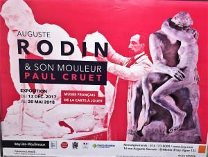 Auguste RODIN & son mouleur Paul CRUET jusqu'au 20 Mai 2018 -Musée Français de la carte à jouer Issy les moulineaux