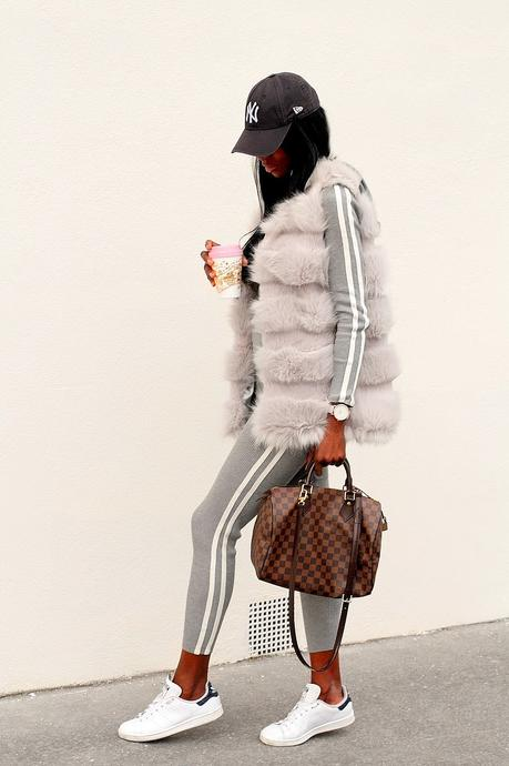 look-sport-chic-louis-vuitton-ensemble-missguided-baskets-adidas-stan-smith