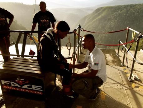 Mon saut à l'élastique en Afrique du Sud! 216m