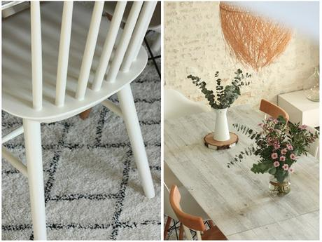 Chaises dépareillées, un joli mélange