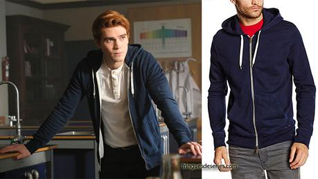 RIVERDALE : navy hoodie for Archie in s2ep13