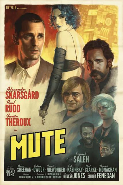 Nouvelle affiche US rétro pour Mute de Duncan Jones