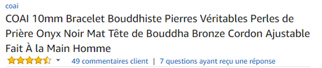 texte amazon bracelet Bouddhiste