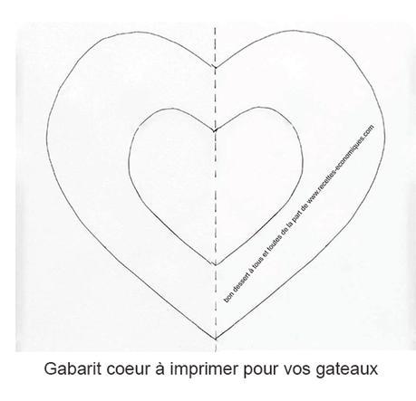 Gabarit coeur imprimer paperblog - Image de coeur a imprimer ...